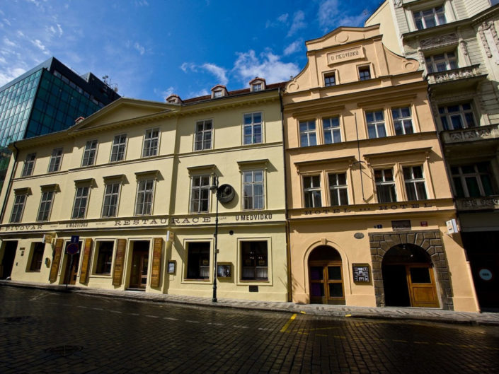 Historic brewery hotel in old Prague